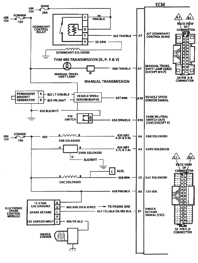 Ecm on air fuel ratio sensor wiring diagram