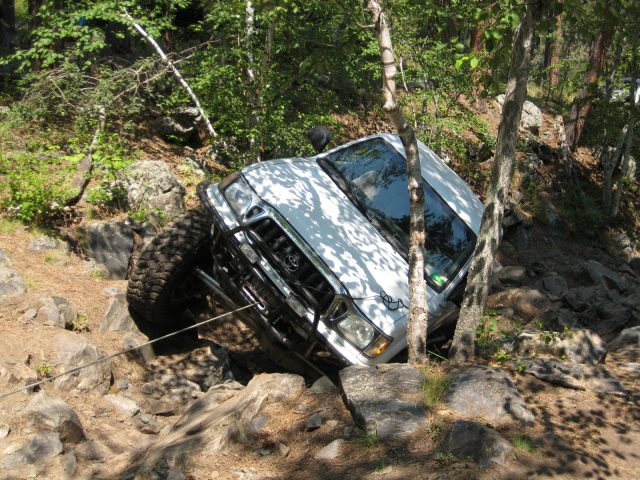 The Author collected as much common sense as he could muster – and broke out the winch.