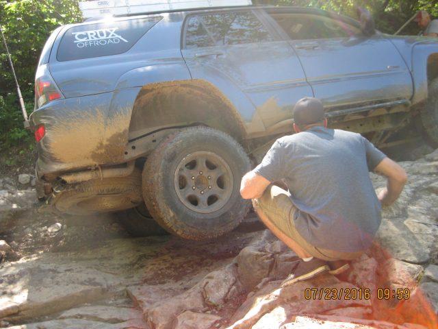 Jeremy lifts a tire on Little Johns.